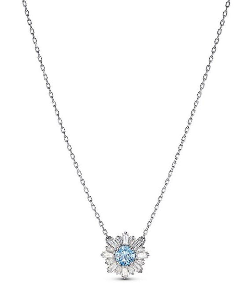 スワロフスキー レディース ネックレス・チョーカー アクセサリー Sunshine Pendant Necklace Blue