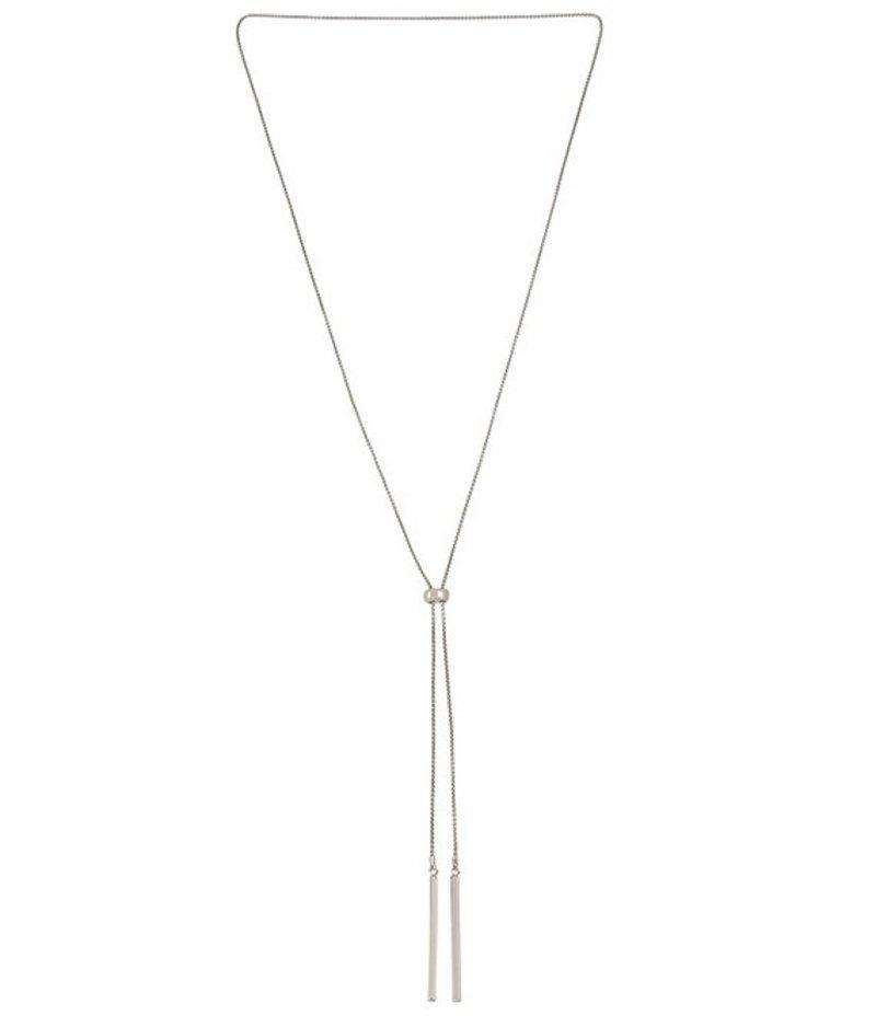 ケネスコール レディース ネックレス・チョーカー アクセサリー Stick Slider Y-Necklace Silver