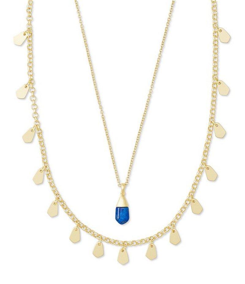 ケンドラスコット レディース ネックレス・チョーカー アクセサリー Gold Freida Multi Strand Necklace Cobalt Howlite