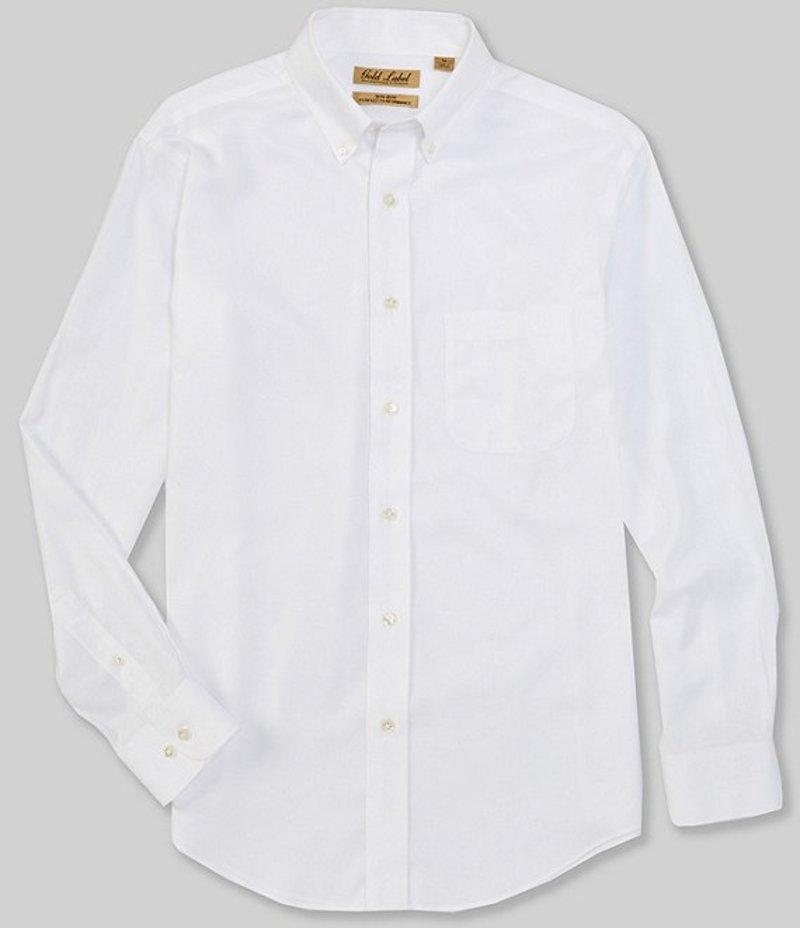 ラウンドトゥリーアンドヨーク メンズ シャツ トップス Gold Label Long-Sleeve Textured Solid Sportshirt White