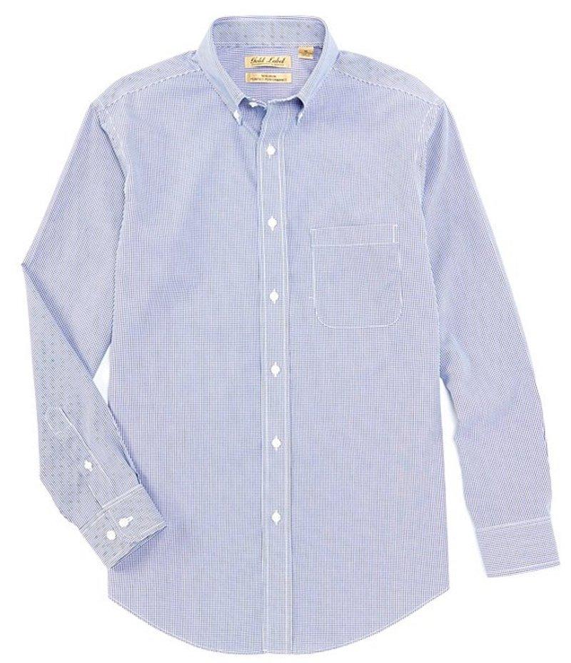 ラウンドトゥリーアンドヨーク メンズ シャツ トップス Gold Label Long-Sleeve Mini Check Sportshirt Nautical Blue