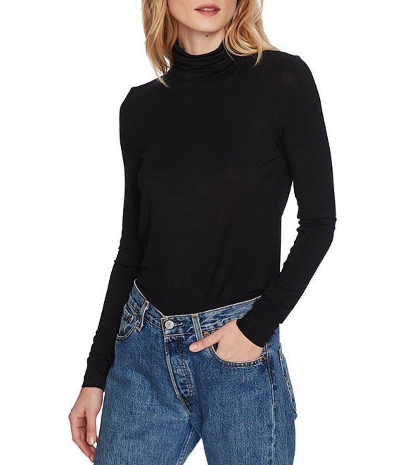 コート&ロー レディース Tシャツ トップス Turtleneck Long Sleeve Knit Top Rich Black
