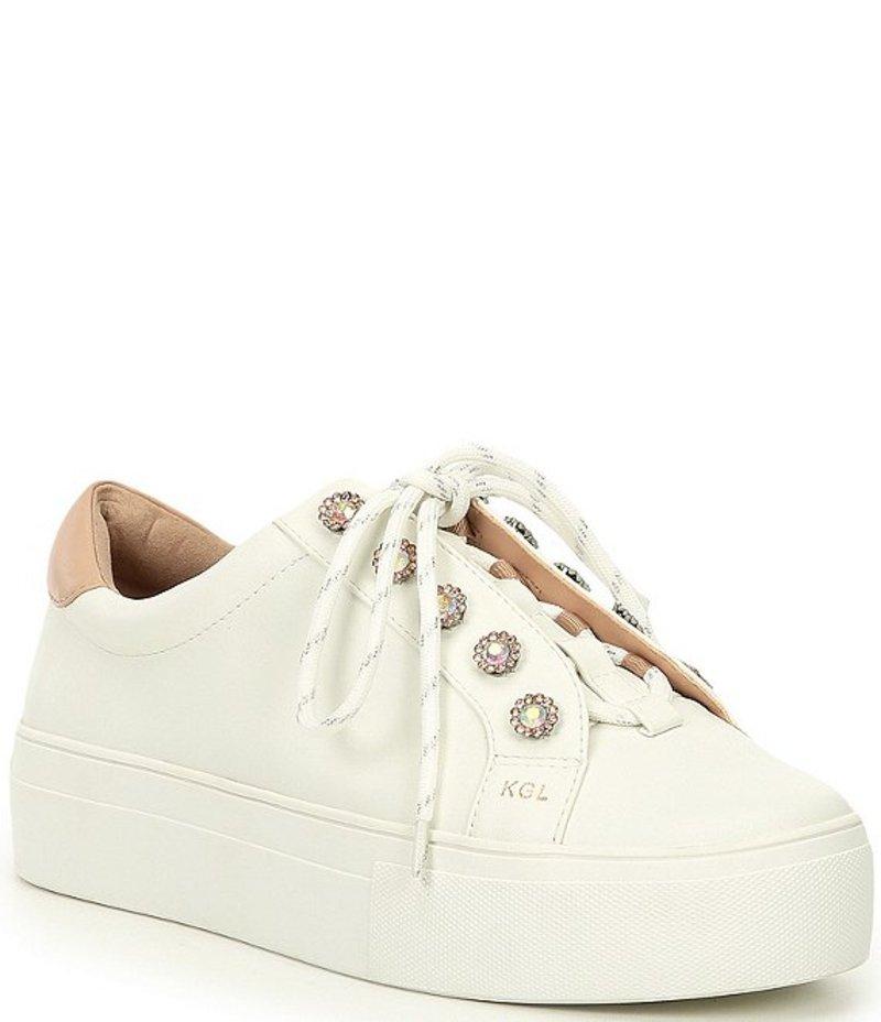 カートジェイガーロンドン レディース スニーカー シューズ Liviah Jewel Embellished Leather Sneakers White