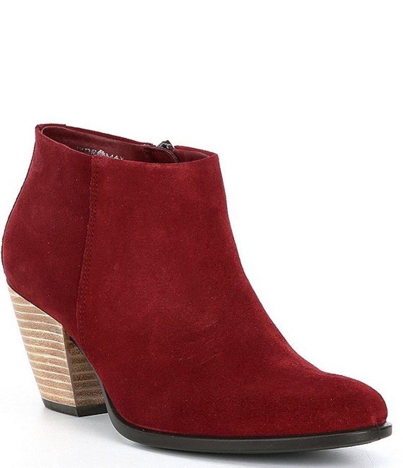 エコー レディース ブーツ・レインブーツ シューズ Shape 55 Western Suede Ankle Boots Syrah