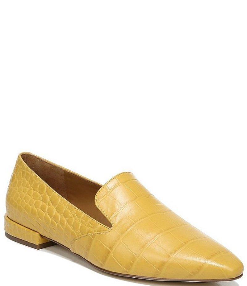 フランコサルト シューズ Loafers Franco Mustard Croc Sarto Parma by レディース Embossed Sarto Leather スリッポン・ローファー