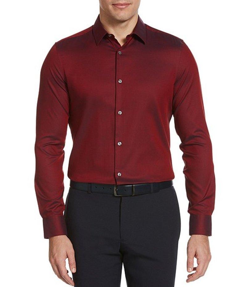 ペリーエリス メンズ シャツ トップス Slim-Fit Solid Wrinkle-Resistant Water-Repellent Dobby Long-Sleeve Woven Shirt Bright Red Dahlia