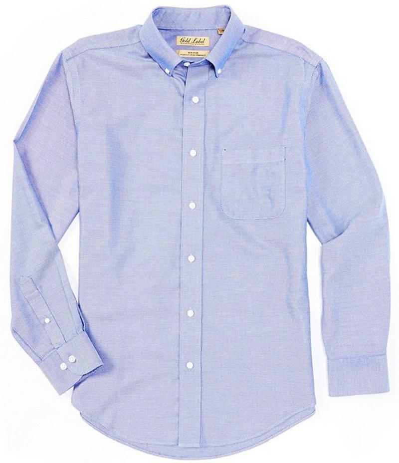 ラウンドトゥリーアンドヨーク メンズ シャツ トップス Gold Label Long-Sleeve Solid Dobby Sportshirt Nautical Blue
