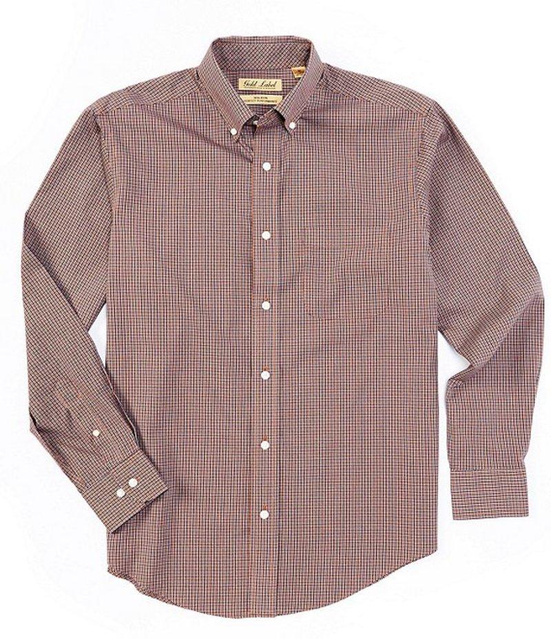 ラウンドトゥリーアンドヨーク メンズ シャツ トップス Gold Label Long-Sleeve Checked Sportshirt Deep Blue