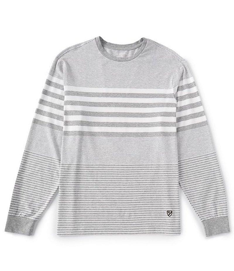 ダニエル クレミュ メンズ シャツ トップス Engineered Stripe Long-Sleeve Tee Grey Heather