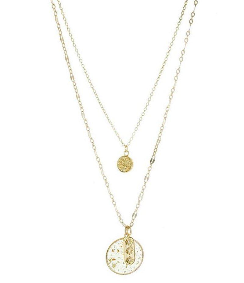 パナセラ レディース ネックレス・チョーカー アクセサリー Gold Drusy Layered Necklace Gold