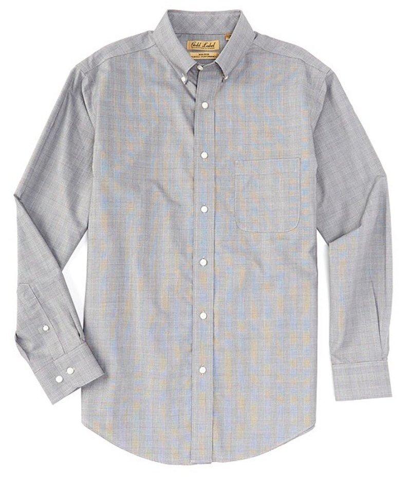 ラウンドトゥリーアンドヨーク メンズ シャツ トップス Gold Label Long-Sleeve Suiting Plaid Sportshirt Black