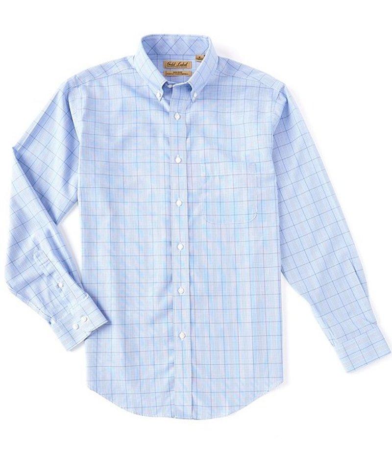 ラウンドトゥリーアンドヨーク メンズ シャツ トップス Gold Label Long-Sleeve Suiting Plaid Sportshirt French Blue
