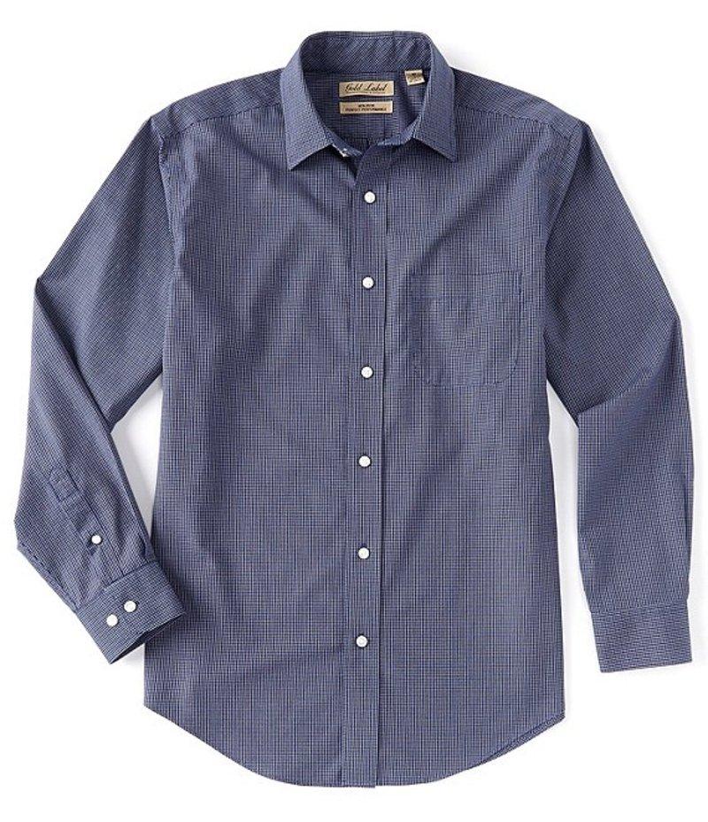 ラウンドトゥリーアンドヨーク メンズ シャツ トップス Gold Label Long-Sleeve Checked Sportshirt Nautical Blue