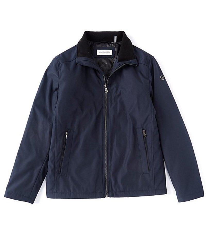 カルバンクライン メンズ ジャケット・ブルゾン アウター Stand Collar Poly Bonded Hipster Jacket True Navy