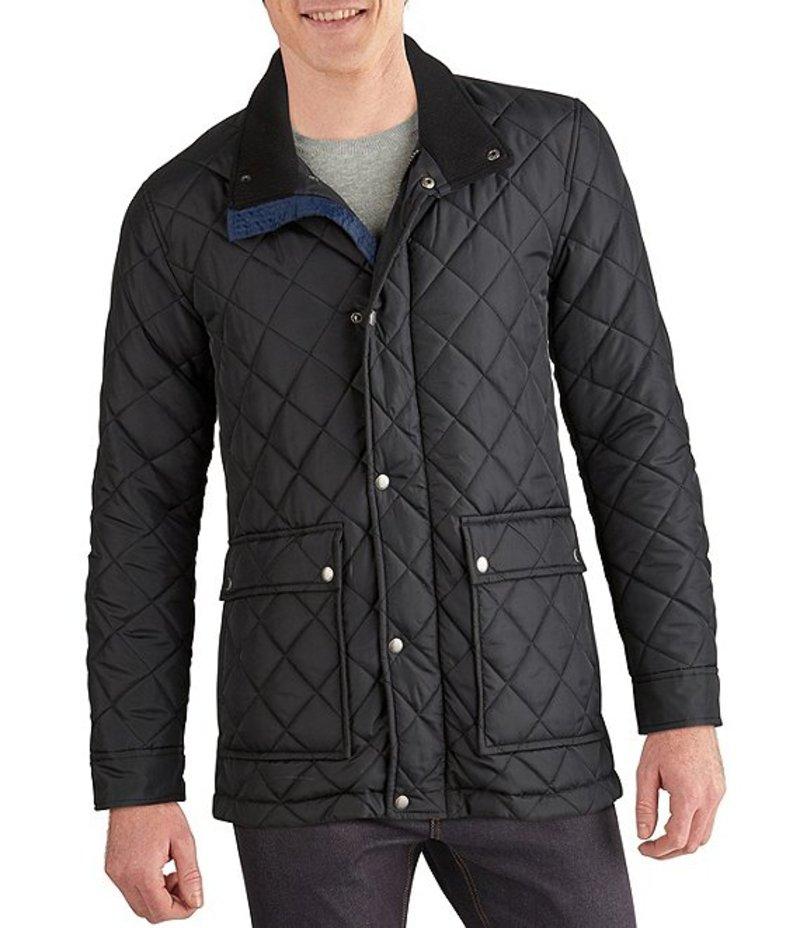 コールハーン メンズ ジャケット・ブルゾン アウター Diamond-Quilted Button Front Jacket Black