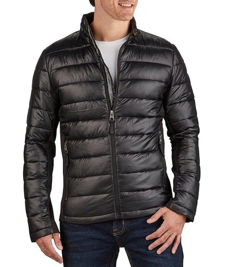 ゲス メンズ パーカー・スウェット アウター Lightweight Polyfill Packable Jacket Black