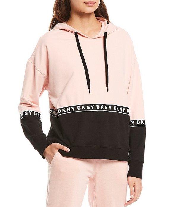 ダナ キャラン ニューヨーク レディース ジャケット・ブルゾン アウター Sport Boxy Colorblock Hooded Sweatshirt With Logo Taping Rosewater