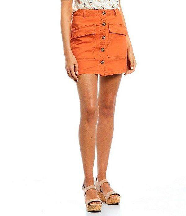 カッパーキー レディース スカート ボトムス Button Front Skirt Orange