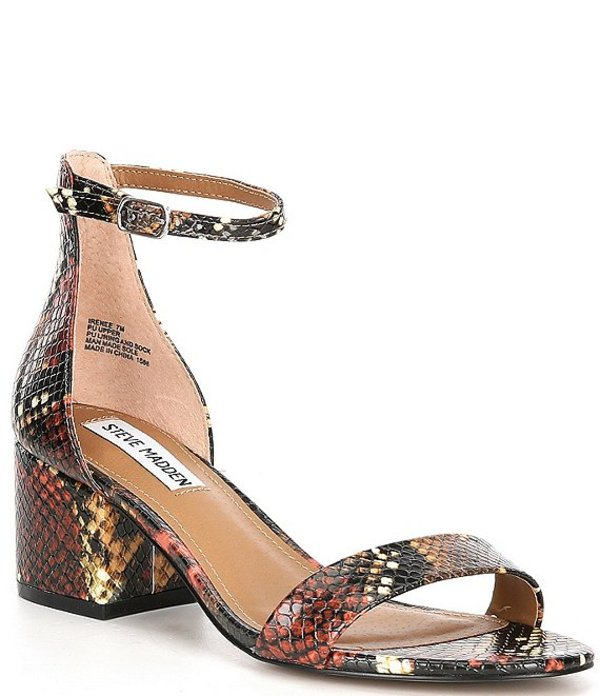 スティーブ マデン レディース サンダル シューズ Irenee Snake Print Block Heel Dress Sandals Multi Snake