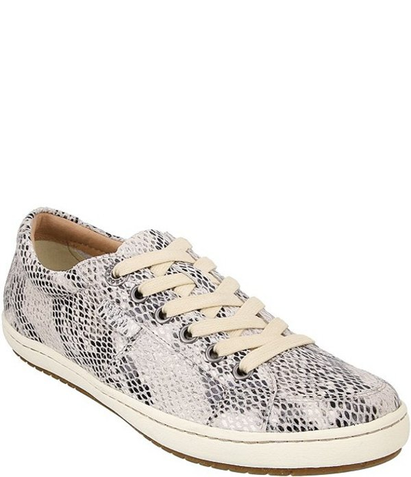 タオスフットウェア レディース オックスフォード シューズ Onward Snake Print Leather Oxford Sneakers White Snake