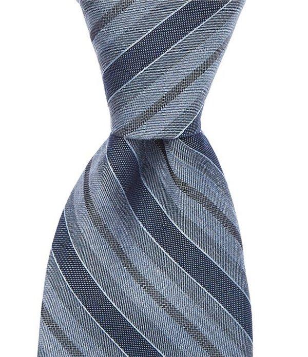 ムラノ メンズ ネクタイ アクセサリー Koller Stripe Skinny 2 3/4#double; Silk Tie Blue