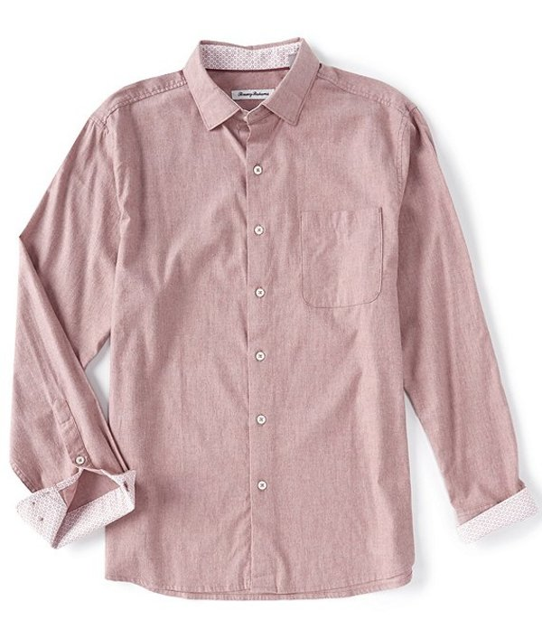Heather Long-Sleeve Herringbone シャツ トップス Shirt Baked Bay メンズ トッミーバハマ Woven Apple
