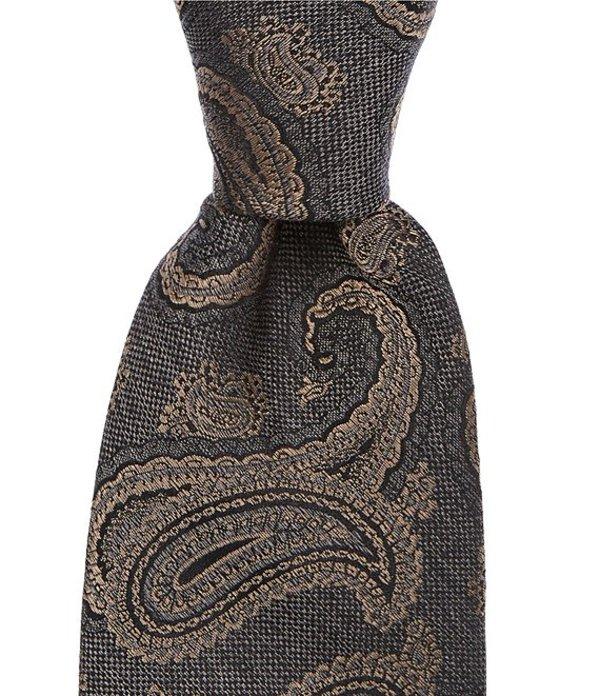 ダニエル クレミュ メンズ ネクタイ アクセサリー Whiting Paisley Narrow 3#double; Silk Tie Taupe