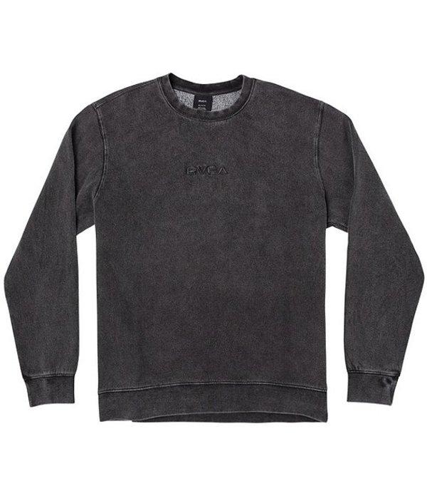 ルーカ メンズ シャツ トップス Tonally Long-Sleeve Crew Shirt RVCA Black