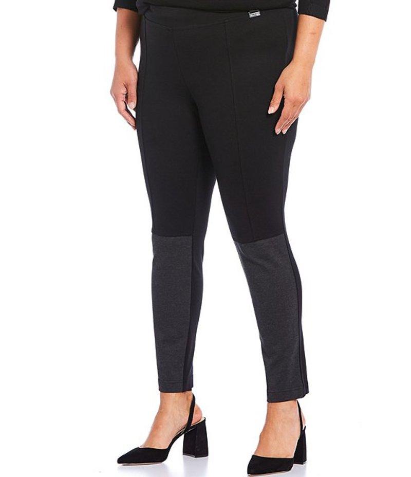 カジュアルパンツ Black/Charcoal Size Leggings Pull-On レディース Ponte Plus ボトムス カルバンクライン Two-Tone