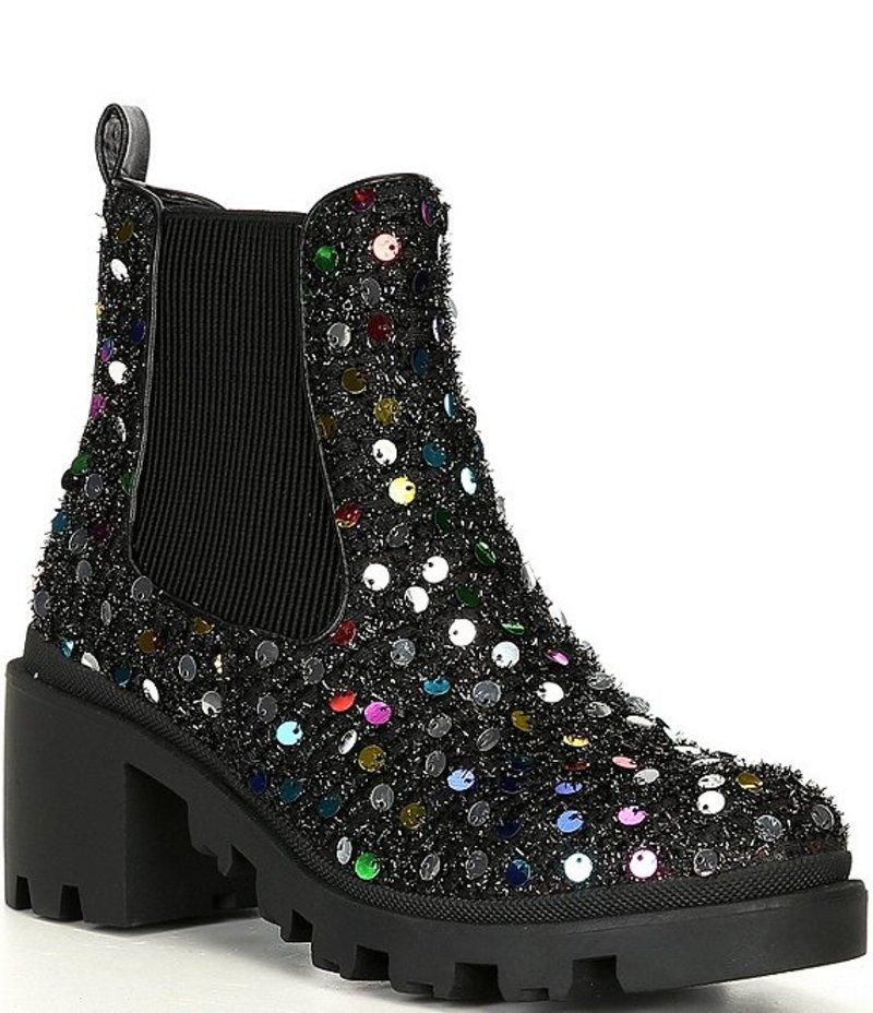 Booties Embellished Chelsea シューズ ブーツ・レインブーツ Black/Multi ベッツィジョンソン Heel Sequin レディース Block Rowan