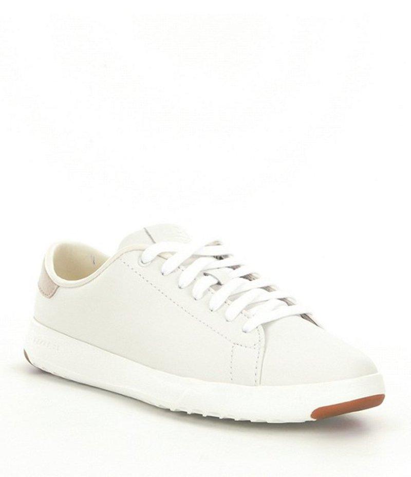 スニーカー Sneakers シューズ GrandPro White コールハーン Tennis Leather レディース Optic