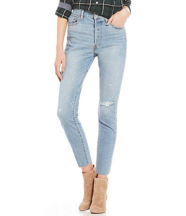 リーバイス レディース デニムパンツ ボトムス Levi'sR Destructed Raw Hem Wedgie Ankle Skinny Jeans Blue Spice