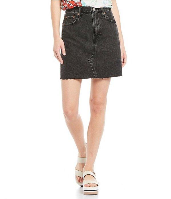 リーバイス レディース スカート ボトムス High Rise Deconstructed Iconic Denim Skirt In Turn