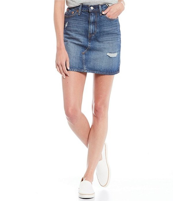 リーバイス レディース スカート ボトムス High Rise Deconstructed Iconic Denim Skirt Middle Avenue
