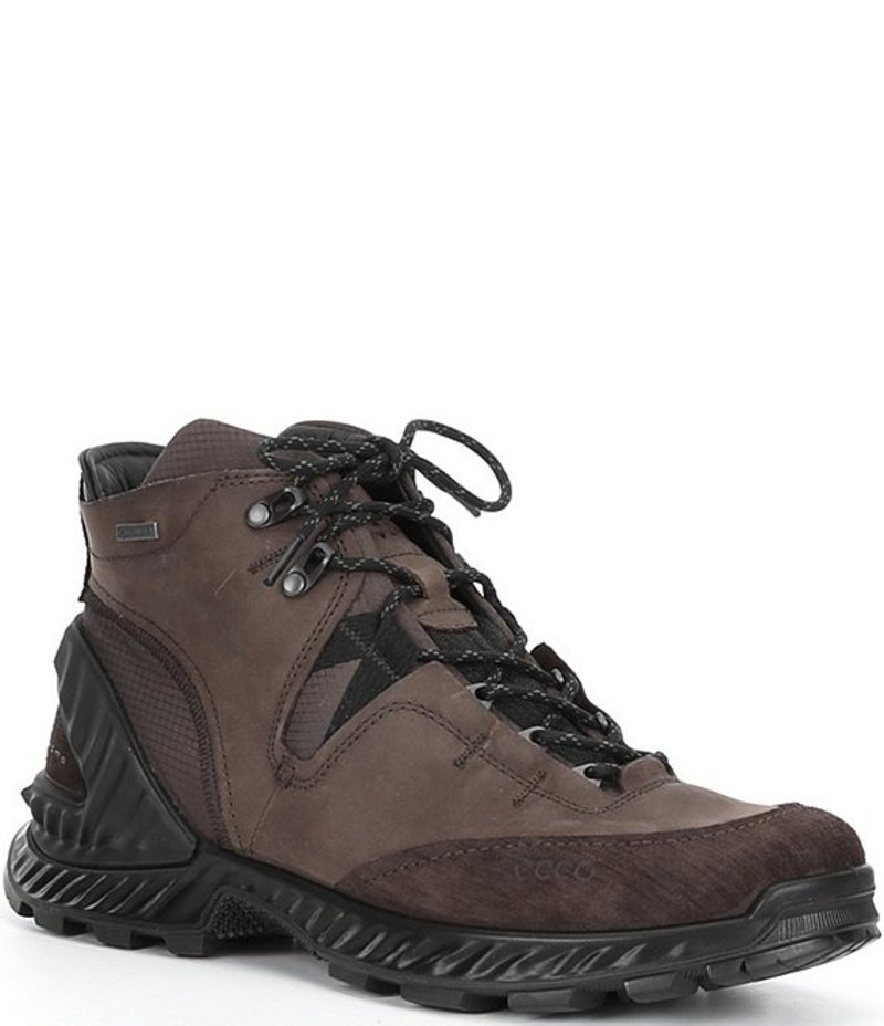 送料無料 サイズ交換無料 エコー メンズ シューズ ブーツ レインブーツ Mocha Cocoa Suede 定番 Exohike Men's 本物 Brown High Sneakers