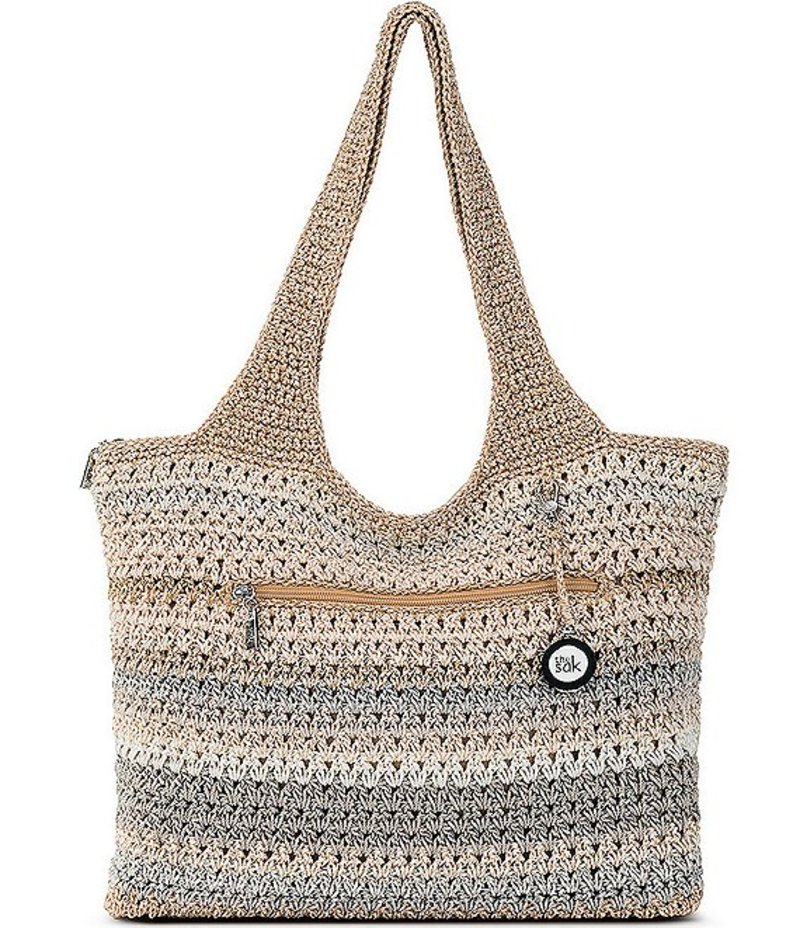 Sand Bag レディース Tote Stripe Large ザサック トートバッグ バッグ Hand-Crochet