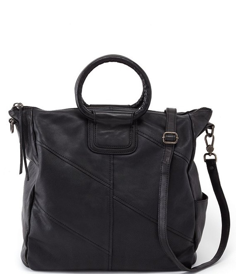 Sheila Travel Convertible Black Tote Bag トートバッグ バッグ Leather ホボ レディース