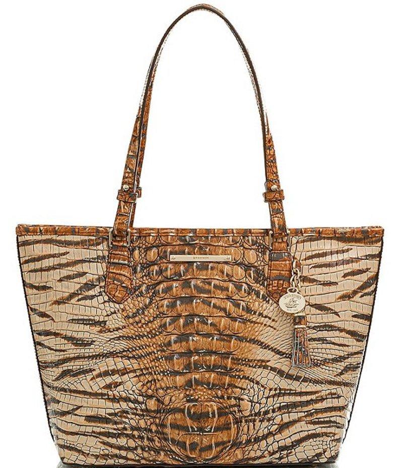 Bag バッグ Asher Tote Medium Tasseled Feline Melbourne レディース Crocodile-Embossed Collection トートバッグ ブランミン