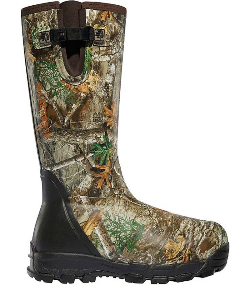 送料無料 サイズ交換無料 ラクロス メンズ シューズ ブーツ レインブーツ 最新号掲載アイテム Reatree 即出荷 Men's Alphaburly 18#double; Zip Waterproof Pro Realtree Edge Boots Side 1000g
