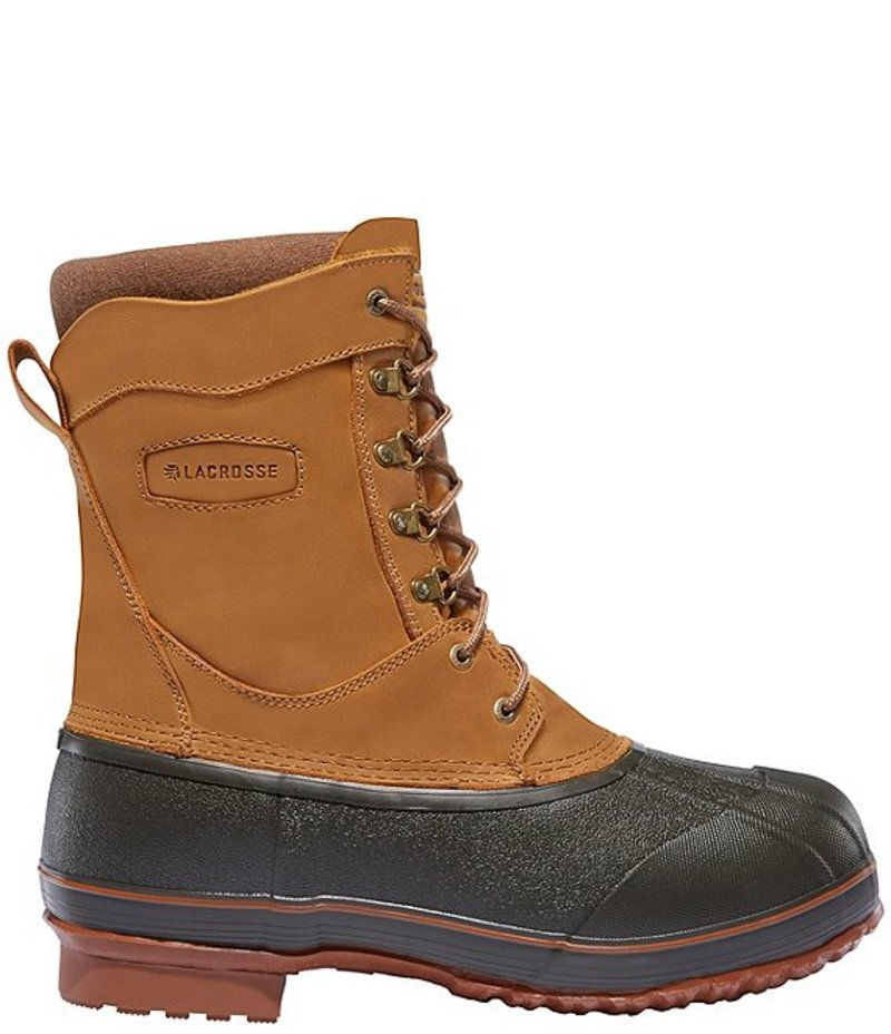 送料無料 サイズ交換無料 ラクロス メンズ シューズ ブーツ 70%OFFアウトレット レインブーツ Brown 返品交換不可 King Waterproof 400G Ice Lace-Up 10#double; Men's Boots