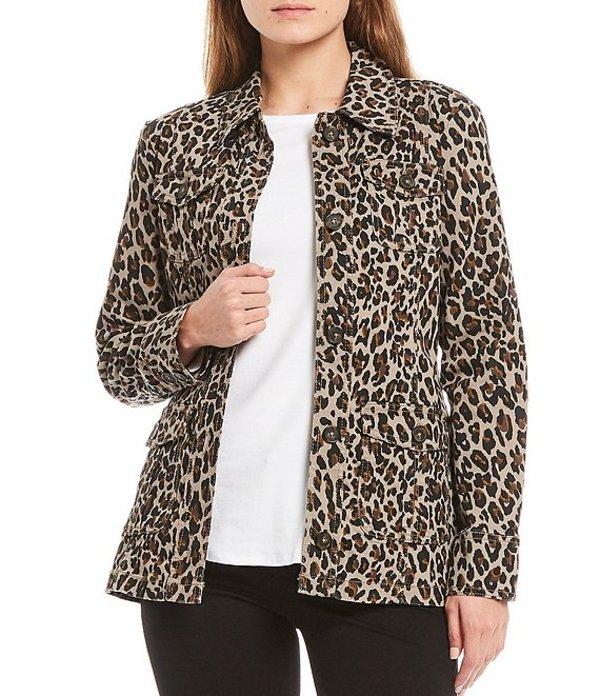 送料無料 サイズ交換無料 コード ブルー レディース アウター ジャケット ブルゾン Print Denim Leopard Pocket 使い勝手の良い Cargo Cheetah 価格 Jacket