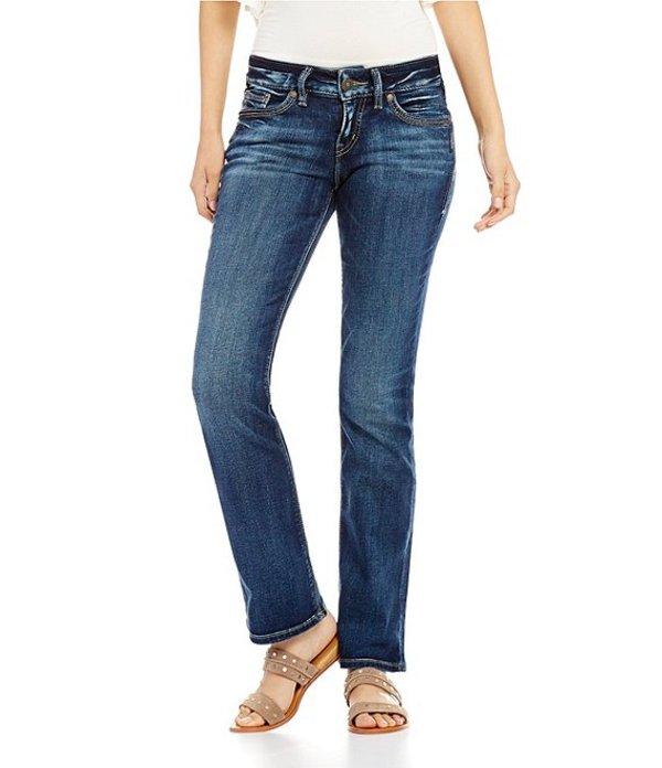 シルバー ジーンズ レディース ブーツ・レインブーツ シューズ Suki Slim Mid-Rise Bootcut Jeans Indigo