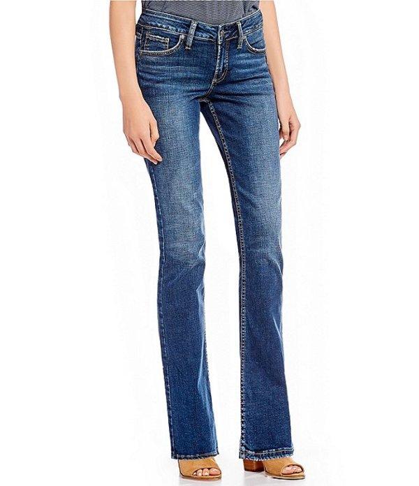 シルバー ジーンズ レディース ブーツ・レインブーツ シューズ Suki Slim Medium Wash Bootcut Jeans Indigo