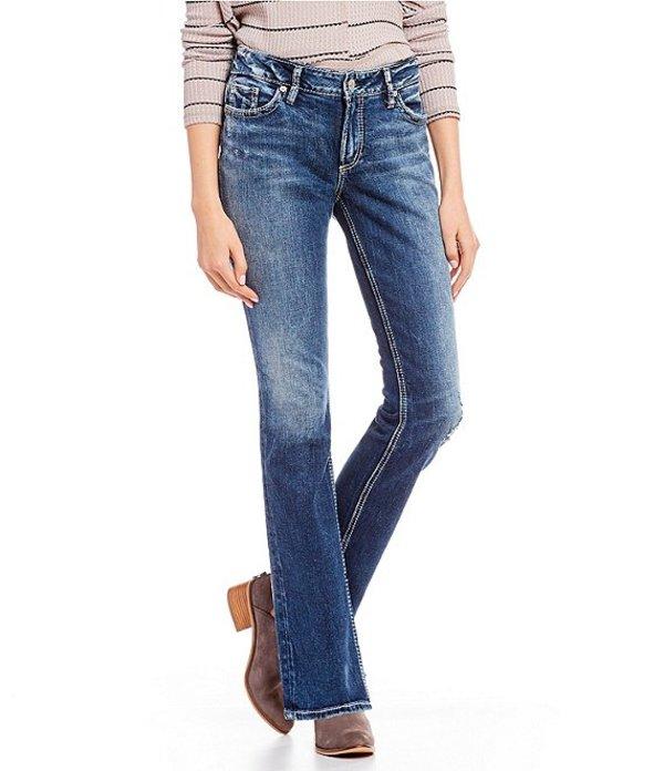シルバー ジーンズ レディース デニムパンツ ボトムス Elyse Curvy Fit Relaxed Straight Jeans Indigo