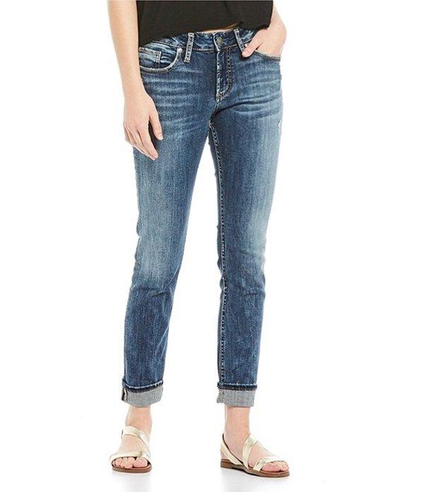 シルバー ジーンズ レディース デニムパンツ ボトムス Suki Slim Cuffed Jeans Indigo