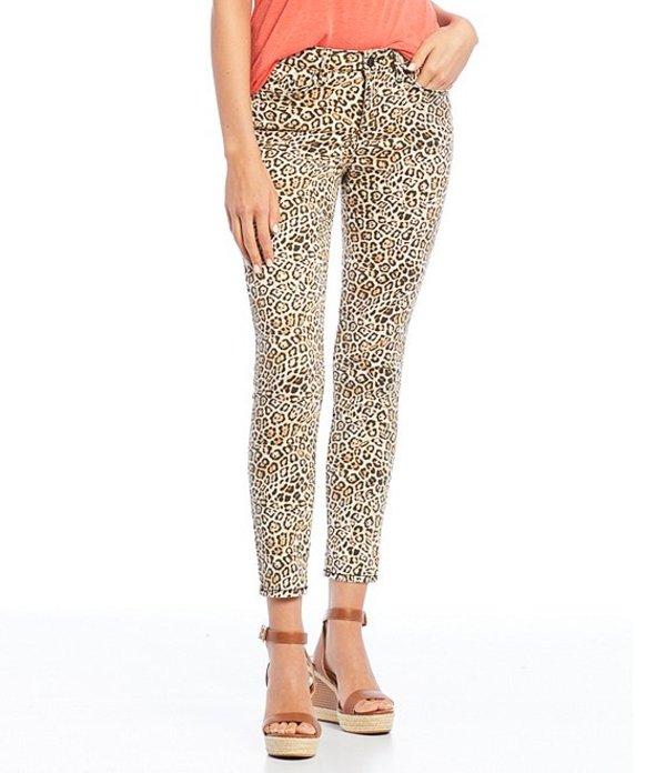 ウィリアム ラスト レディース デニムパンツ ボトムス Perfect Animal Print Ankle Skinny Jeans Cheetah Wave