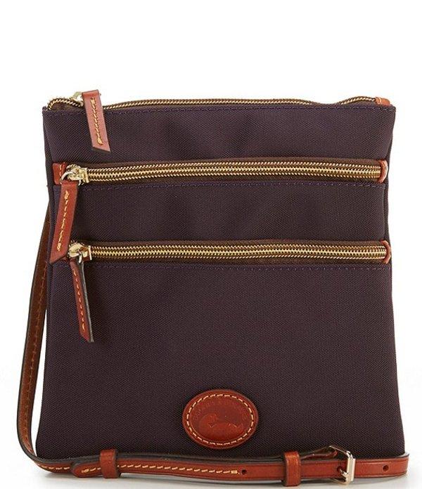 【送料0円】 ドーネイアンドバーク レディース ショルダーバッグ バッグ Nylon Triple-Zip Cross-Body Bag Black, 株式会社 スバル df042280