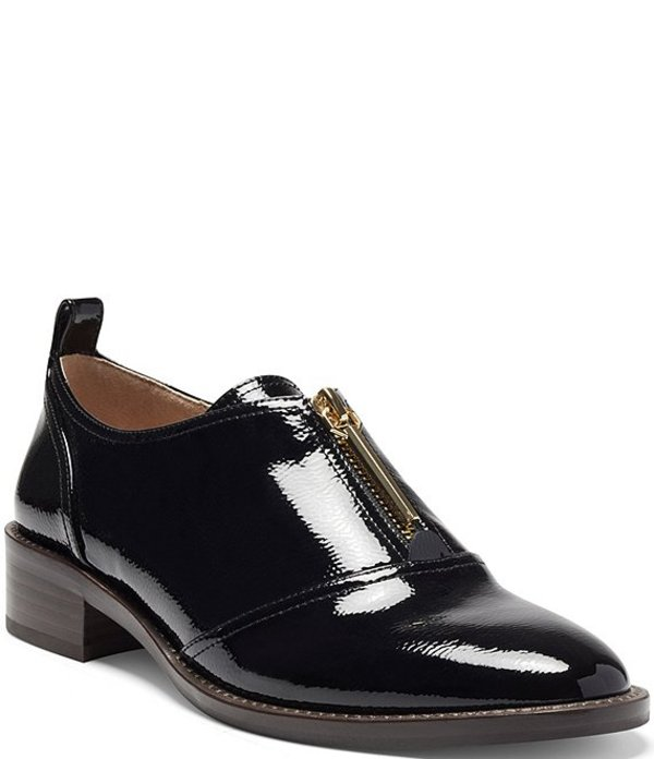 ルイスエシー シューズ Black Block Fadi オックスフォード Leather Oxfords Heel Patent レディース