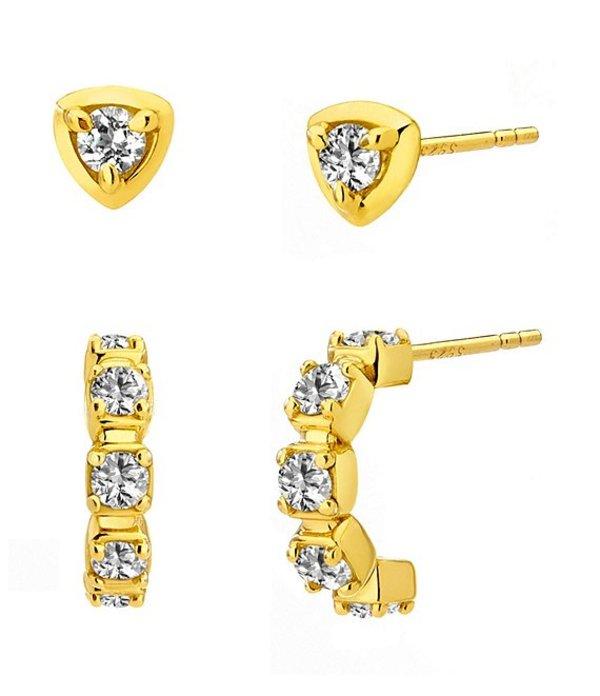 送料無料 サイズ交換無料 ナディール レディース 買い取り アクセサリー ピアス ギフト プレゼント ご褒美 イヤリング Gold AJOA Earring by Hoop Set J Stud Nadri