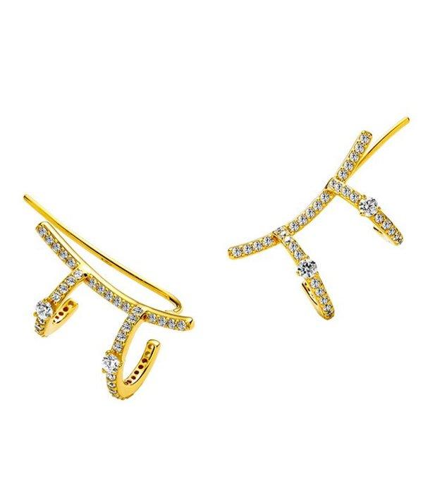 送料無料 サイズ交換無料 ナディール レディース 特別セール品 アクセサリー ピアス マーケティング イヤリング Gold Ear AJOA Earrings Wrap by Around Nadri Climber
